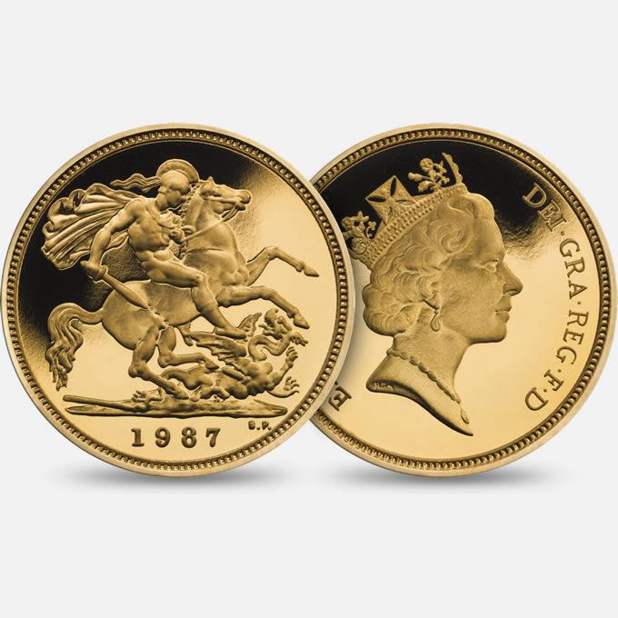 Investimento altre monete in oro gran bretagna 1 sterlina - Sterlina oro 2017 fondo specchio ...